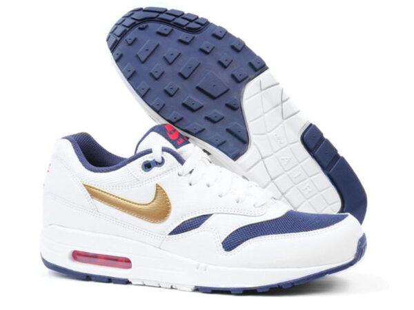 Nike Air Max 87 белые с золотым (35-40)