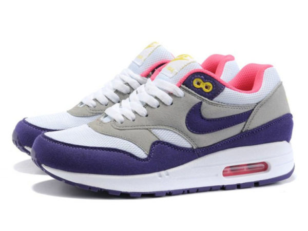 Nike Air Max 87 серо-фиолетовые (35-41)