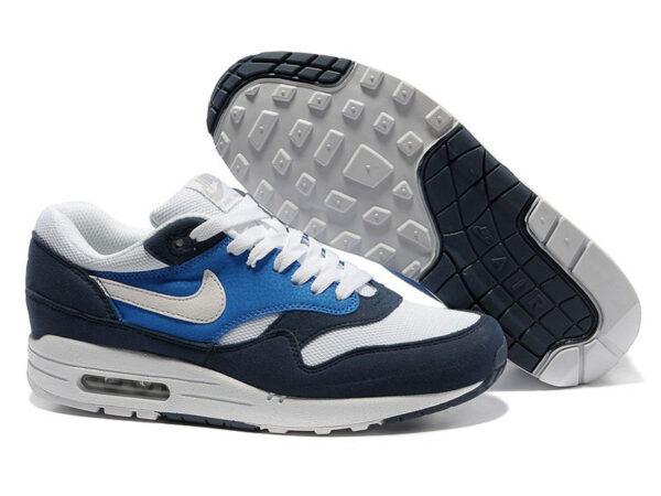 Nike Air Max 87 темно-синие с белым (40-45)