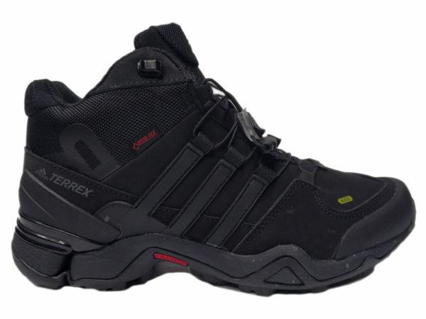 Adidas Terrex Traxion Mid на меху черные (40-46)