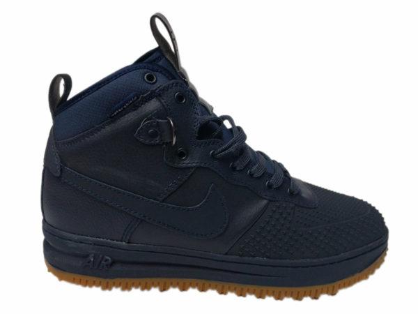 Зимние Nike Lunar Force 1 Leather темно-синие