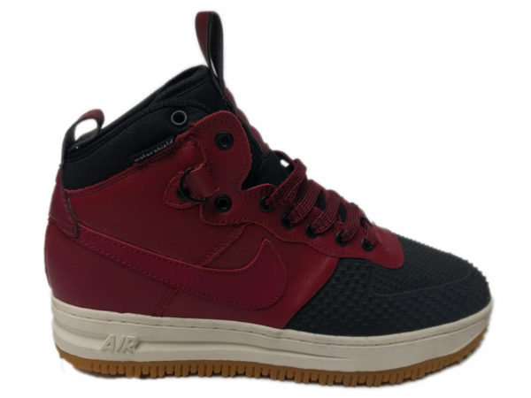 Nike Lunar Force 1 на меху красные с черным (40-46)