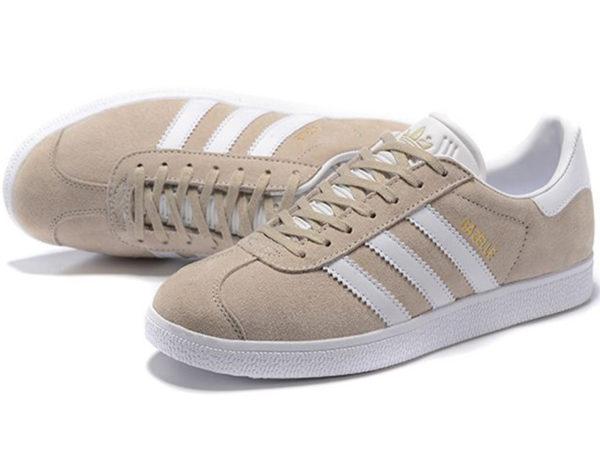 Adidas Gazelle бежевые с белым (35-40)