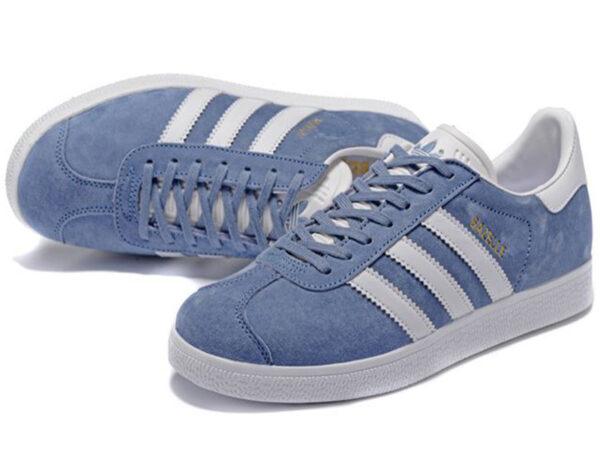 Adidas Gazelle голубые с белым (35-40)