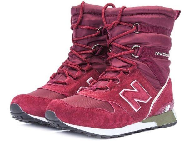 Сапоги New Balance Snow Boots бордовые 36-40