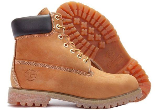 Ботинки Timberland Classic нубук светло-коричневые (без меха) 36-46