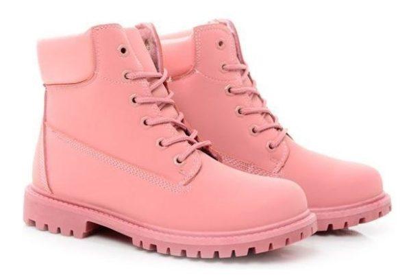 Ботинки Timberland Classic Pink розовые с мехом 35-40