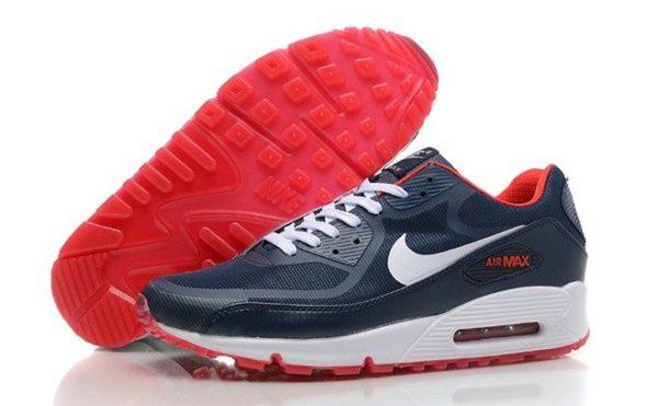 Nike Air Max 90 синие с красным (40-44)