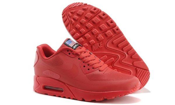 Nike Air Max 90 Hyperfuse красные (35-45)