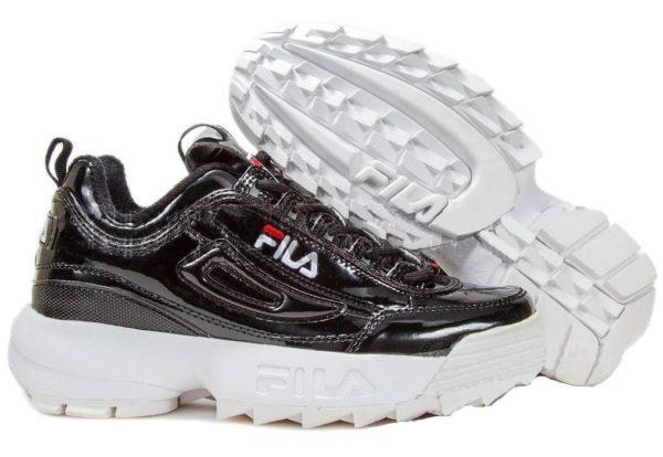 Fila Disruptor 2 black white черно-белые (35-39)
