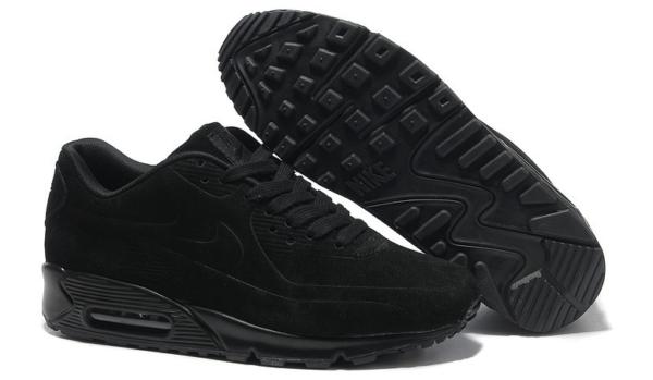 Nike Air Max 90 VT черные замшевые (36-46)