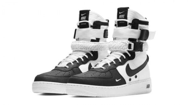 Nike Air Force 1 SF Mid черно-белые (40-44)