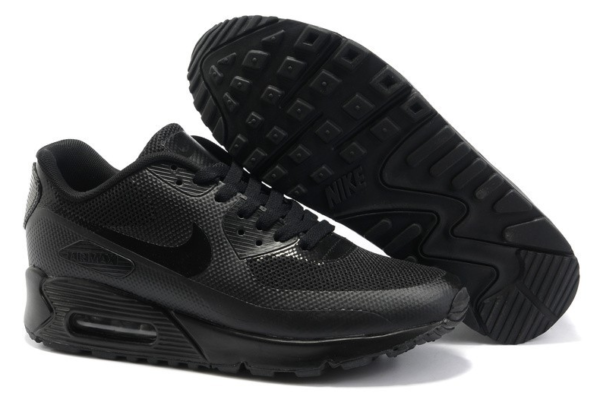 Nike Air Max 90 Hyperfuse черные (35-45)