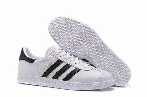 Adidas Gazelle Leather белые с черным (40-44)