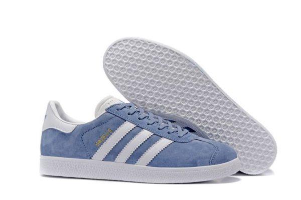 Adidas Gazelle голубые с белым (35-39)
