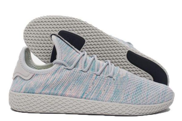 Adidas x Pharrell Williams Tennis Hu сине-розовые с серым (35-39)