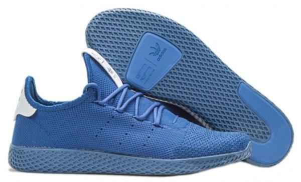 Adidas x Pharrell Williams Tennis Hu синие с белым (40-44)
