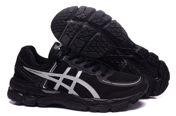 Asics Gel Kayano 22 (Black/Silver) черные 40-44