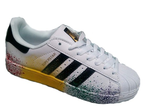 Adidas Superstar Paint белые white (35-40) Адидас Суперстар