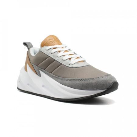 Кроссовки Adidas Sharks серые с белым (35-44)