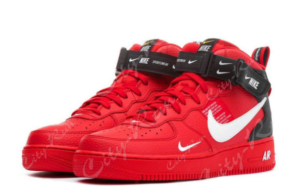 Nike Air Force 1 LV8 Utility Mid красные (35-44)