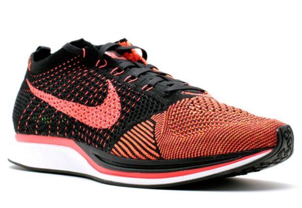Nike Flyknit Racer оранжевые с черным (40-44)