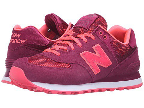 New Balance 574 замша-сетка фиолетовые с розовым (36-39)
