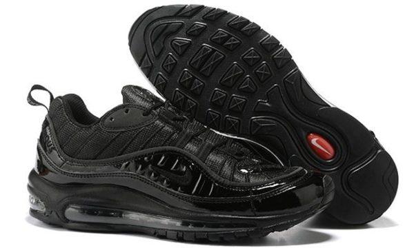 Supreme x Nike Air Max 98 черные (Black) (35-44)