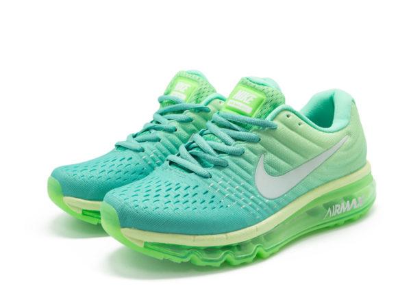 Nike Air Max 2017 голубые с зеленым (35-40)