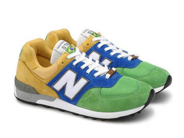 New Balance 576 желто-сине-зеленые 35-44