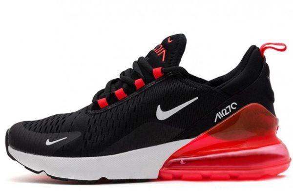 Nike Air Max 270 черно-белые с красным (40-44)