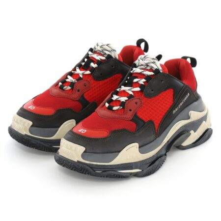 Balenciaga Triple S red/black  мужские (35-44)