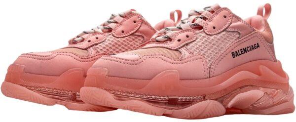 Balenciaga Triple S розовые нубук женские (35-39)