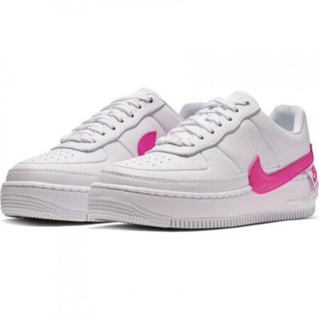 Nike Air Force 1 LV8 белые с розовым кожаные женские (35-39)