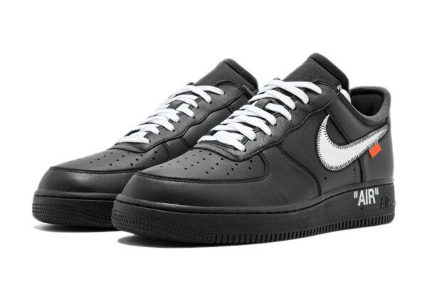 Nike Air Force 1 07 LV8 черные с серебристым кожаные мужские-женские (35-44)