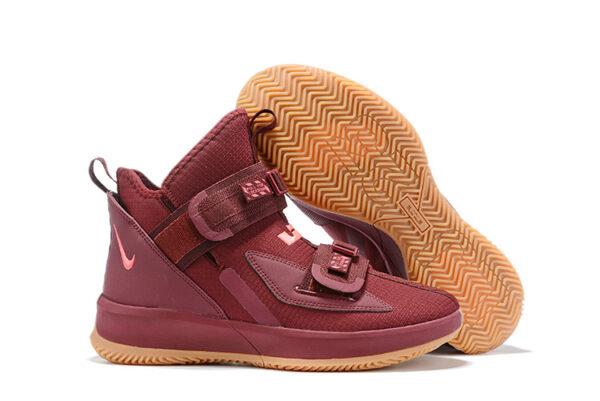 Nike LeBron Soldier 13 бордовые мужские (40-45)