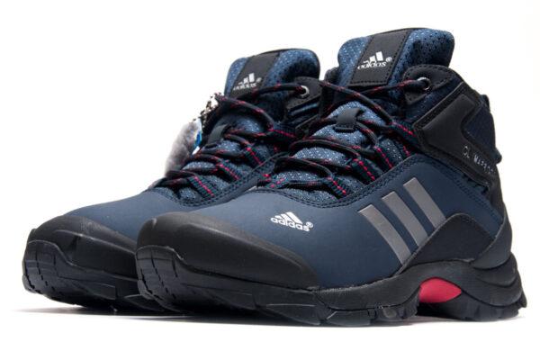 Зимние Adidas Terrex Climaproof с мехом синие нубук мужские (40-45)