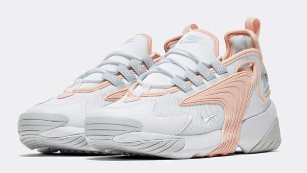 Nike Zoom 2k белые с розовым кожаные женские (35-39)